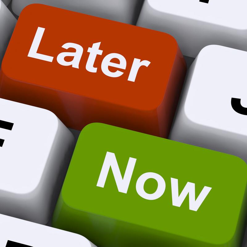 Purpose driven procrastination