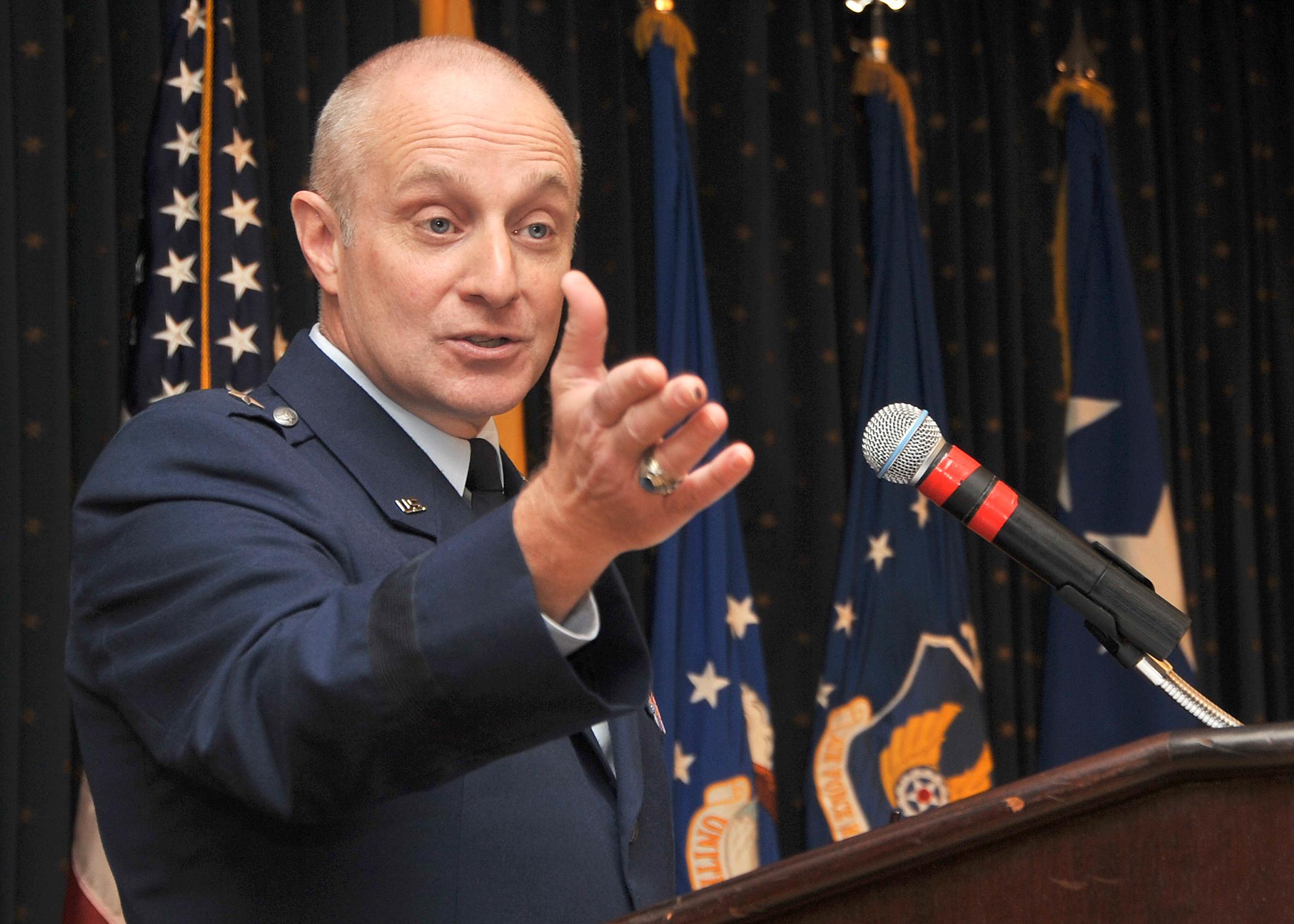 US Air Force Major General Harencak Speaking on Leadership