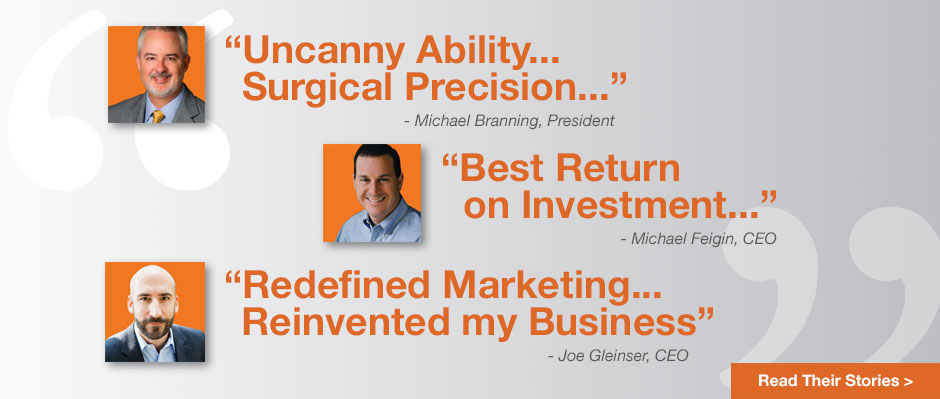 Clients rave about their sales growth and increasing business