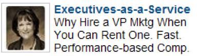 Executives-as-a-Service LinkedIn Ad