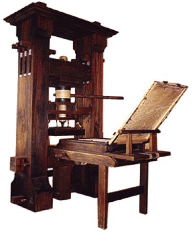 """Printing Press - The dissemination of knowledge and enabling democracy. Learn how """"Big Data"""" can be the next monumental shift in how we operate."""