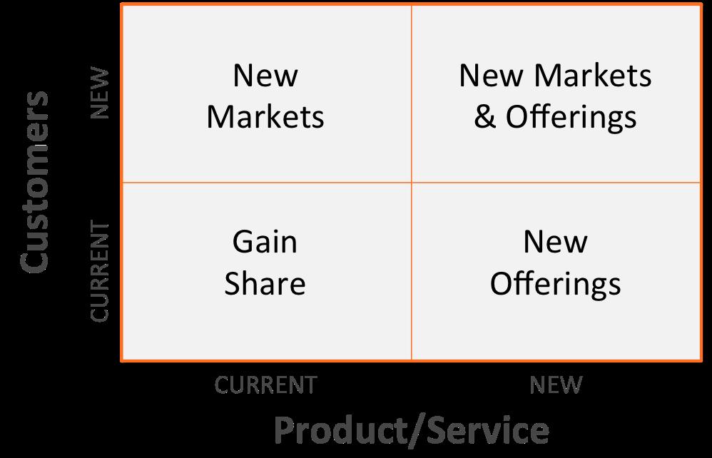 business growth strategies matrix
