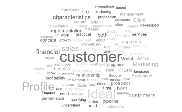 customer profile word art