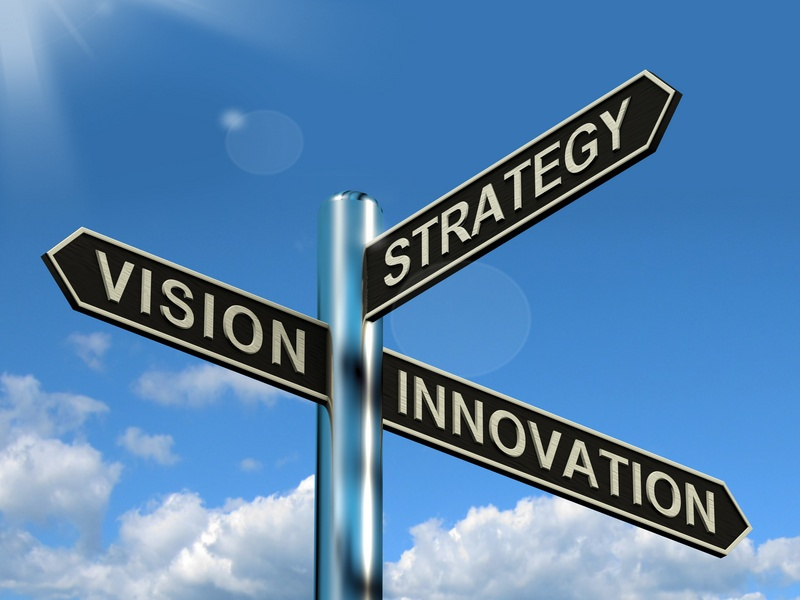 cutcaster-901680194-Vision-Strategy-Innovation-Signpost-Showing-Business-Leadership-small.jpg