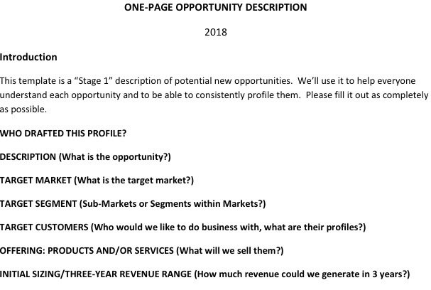 one-page-opportunity